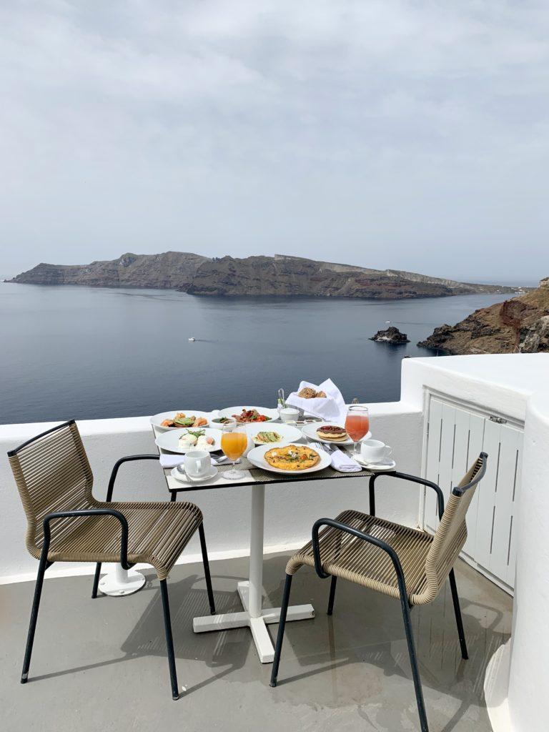 Katikies Santorini Hotel Liz Olusesan Breakfast