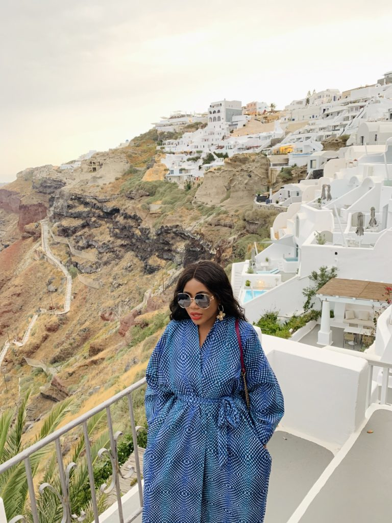 Liz Olusesan Katikies Santorini Hotel Review