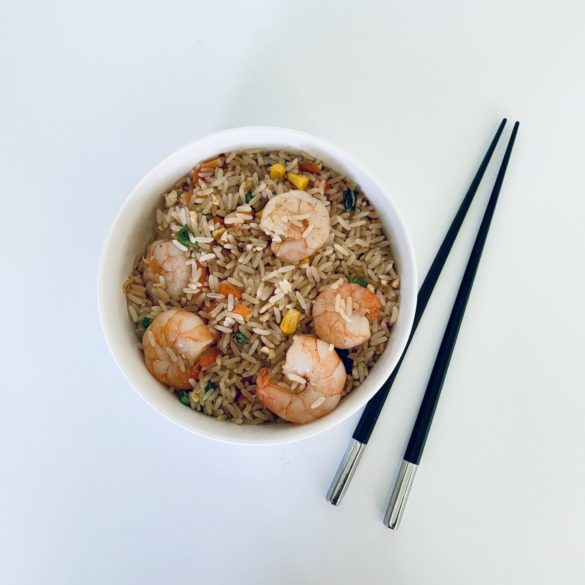 homemade kingprawn fried rice by liz olusesan