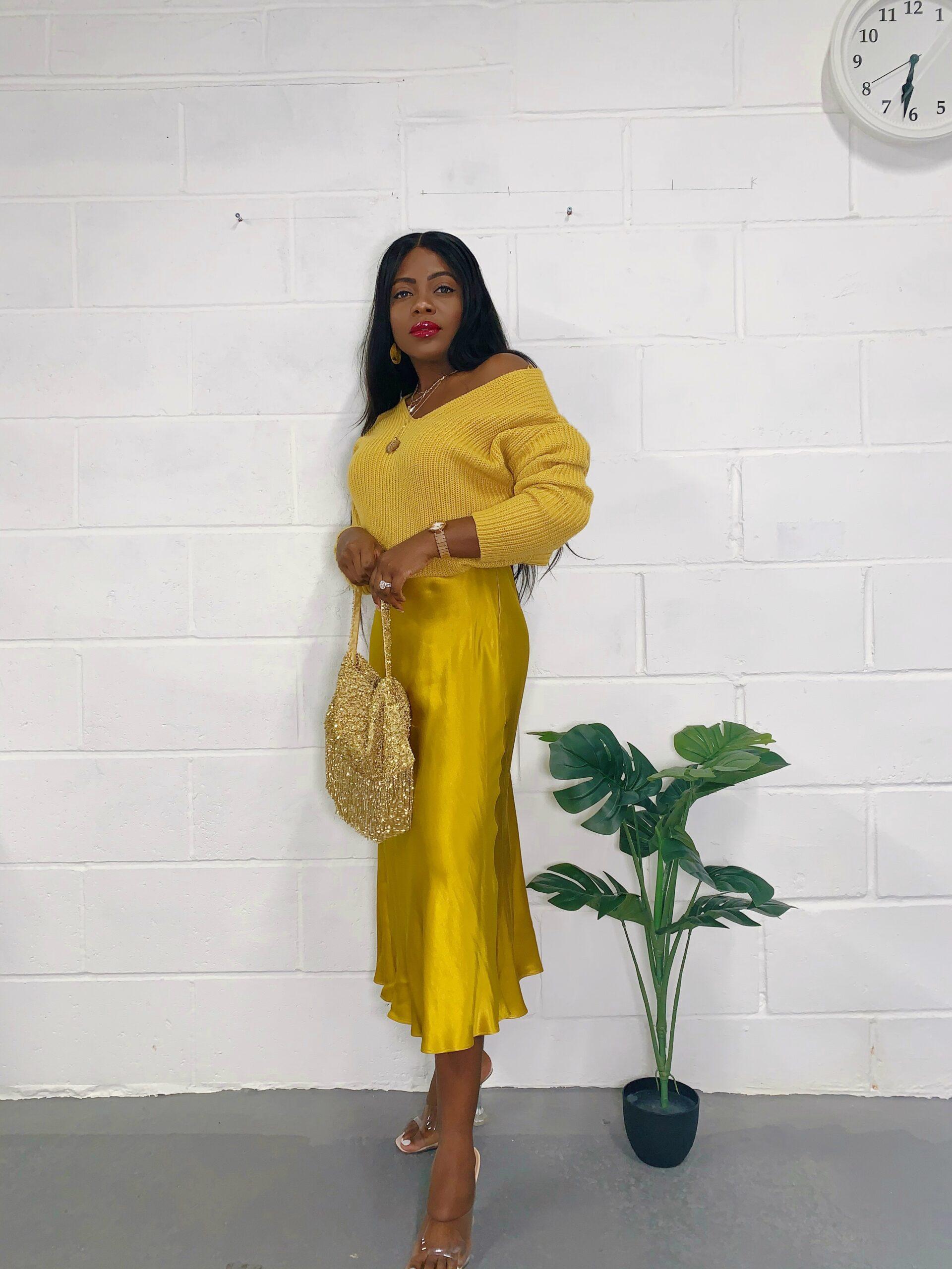 lizolusesan how to style a satin skirt